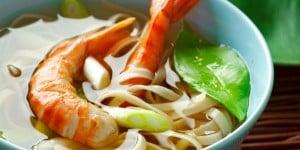Soupe de nouilles aux crevettes